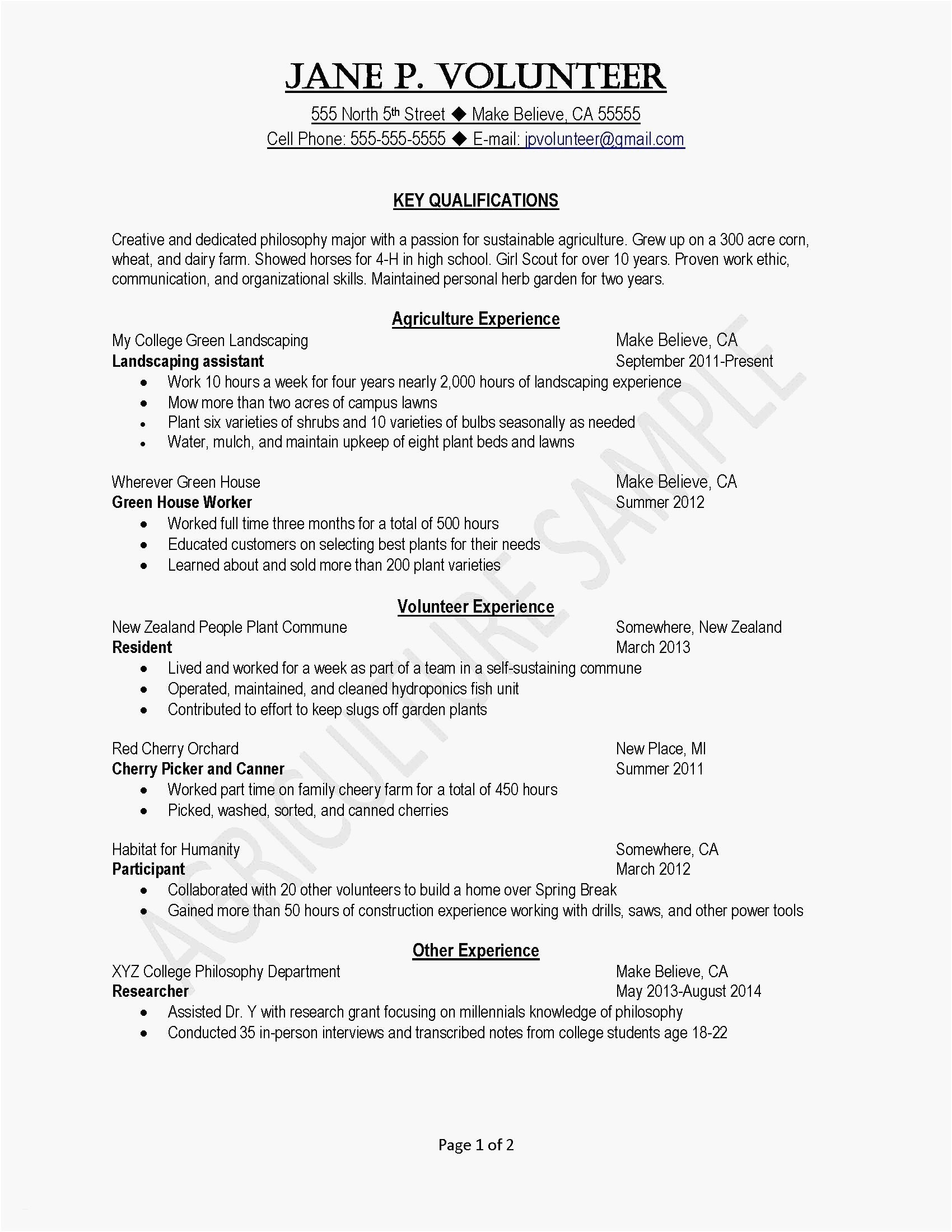 Landscaping Resume Examples - Good Resumes Examples New 23 General Resume Objective Samples