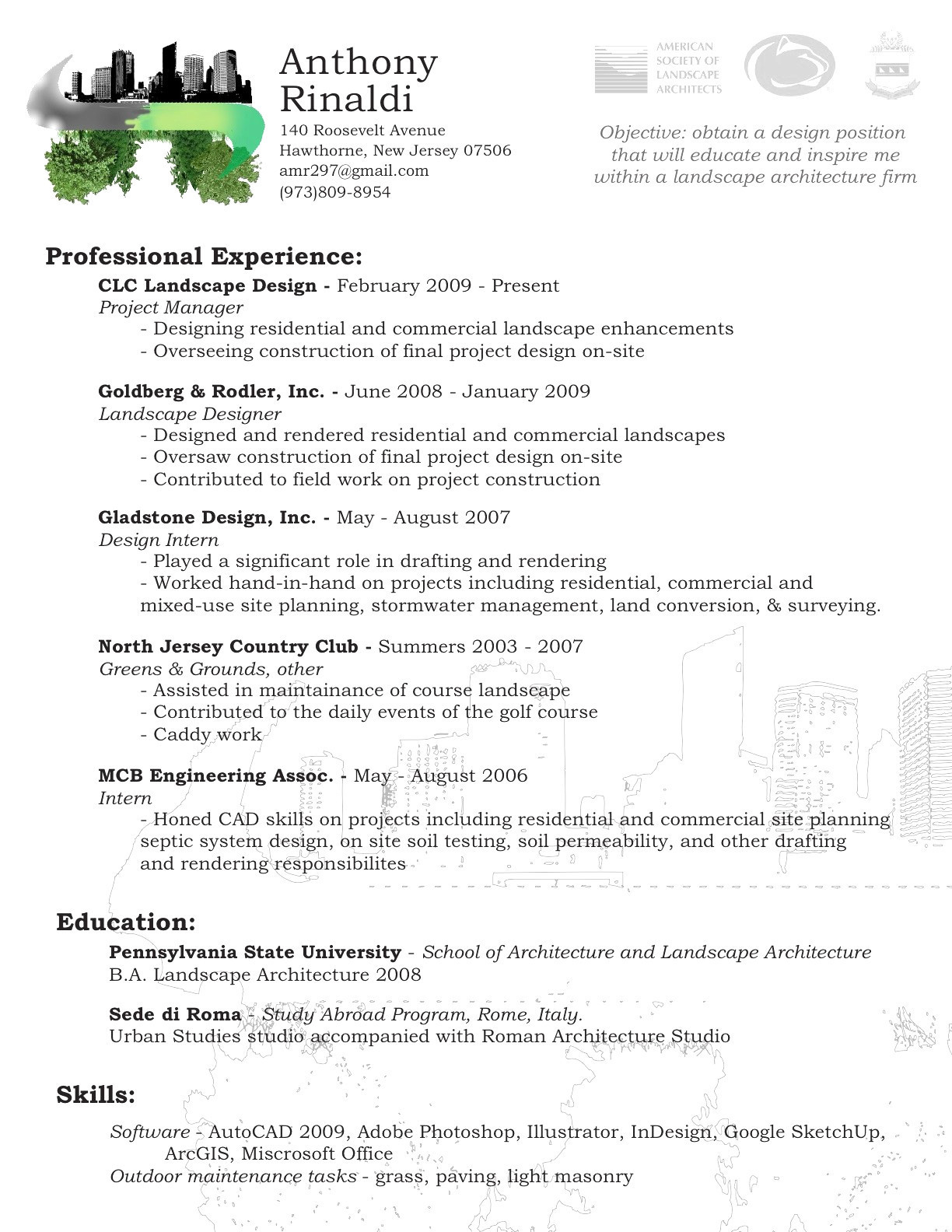 Landscaping Skills for Resume - Beautiful Clc Landscape Design Landscape Design Ideas