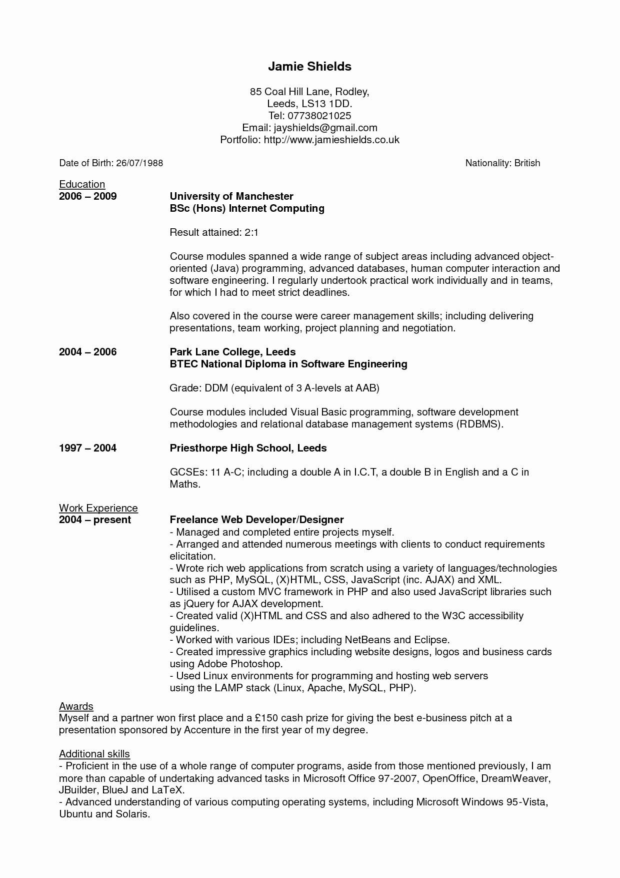 Latex Resume Template Phd - Resume format for Phd Candidate Awesome Latex Resume Template Phd