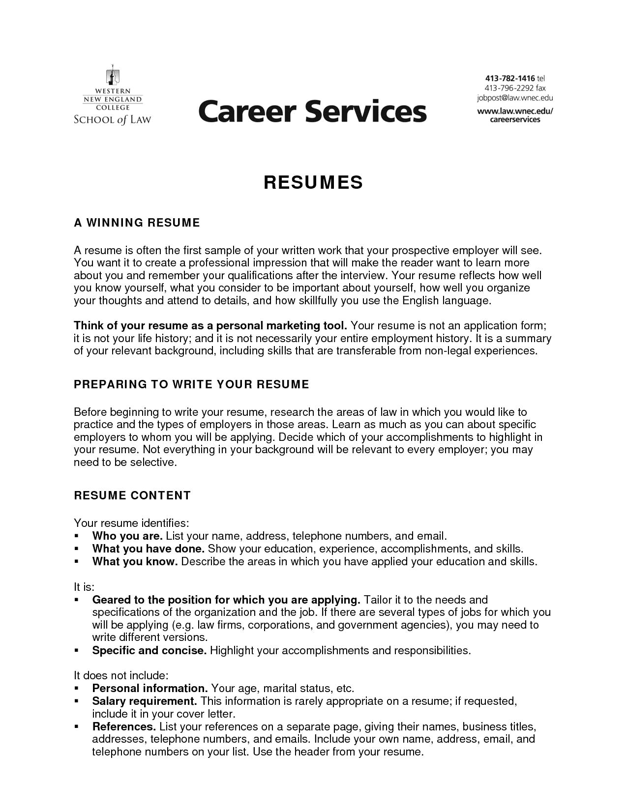 Law School Application Resume - 46 Inspirational Server Job Description for Resume