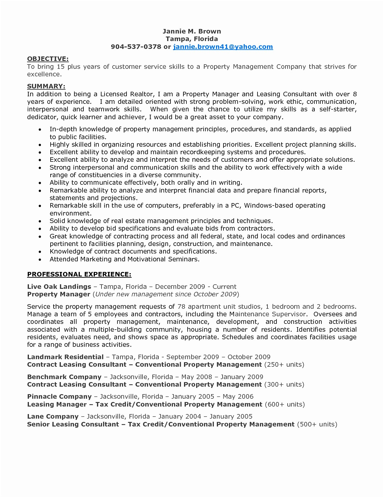 13 Leasing Consultant Resume Example Examples | Resume Database Template