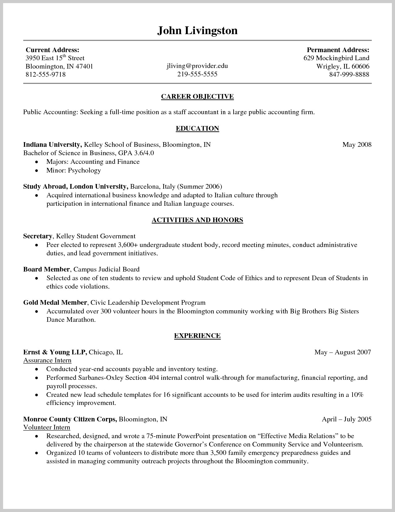 Leeds School Of Business Resume Template - Kelley School Business Resume Template Choice Image Business