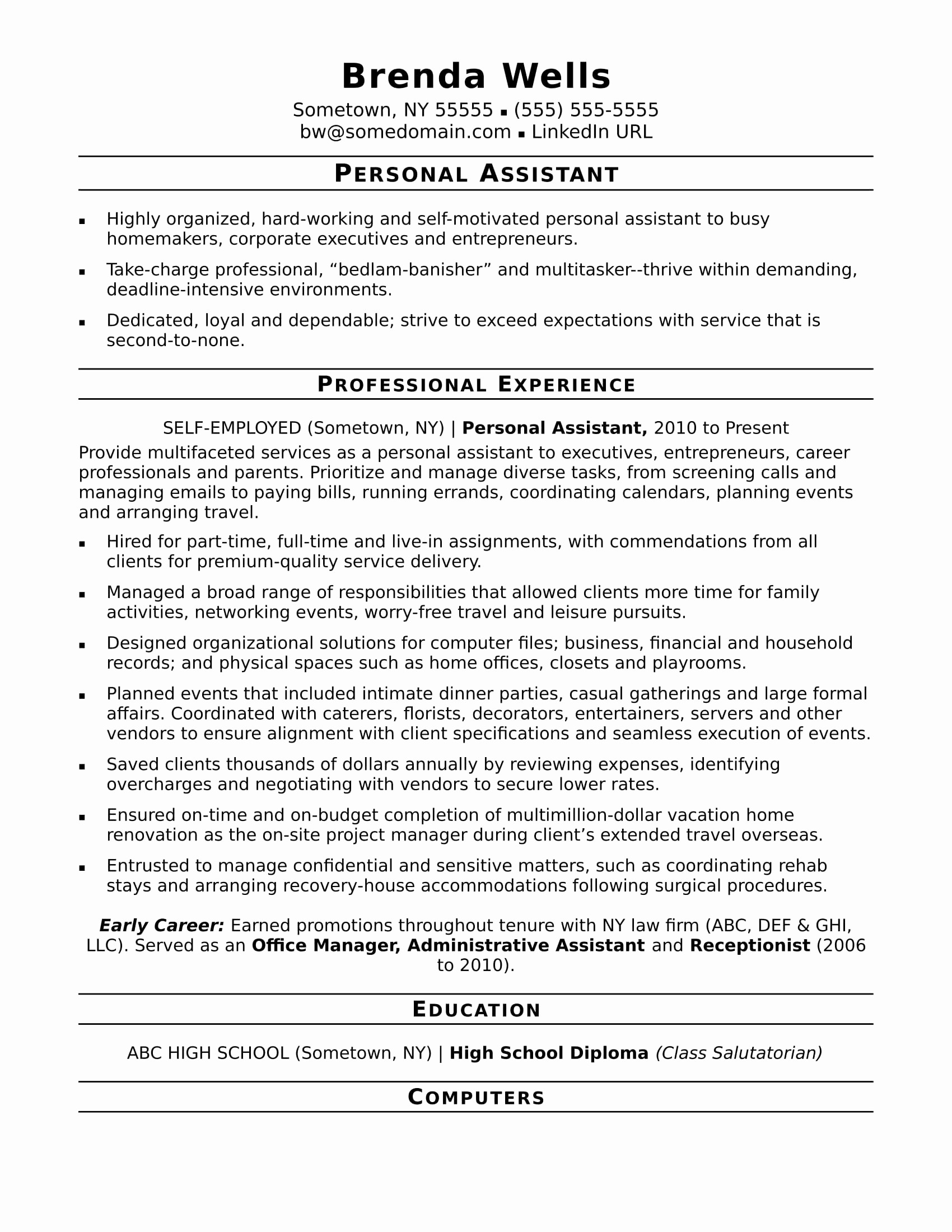 Legal Resumes and Cover Letters - 52 Sample Resume Cover Letter