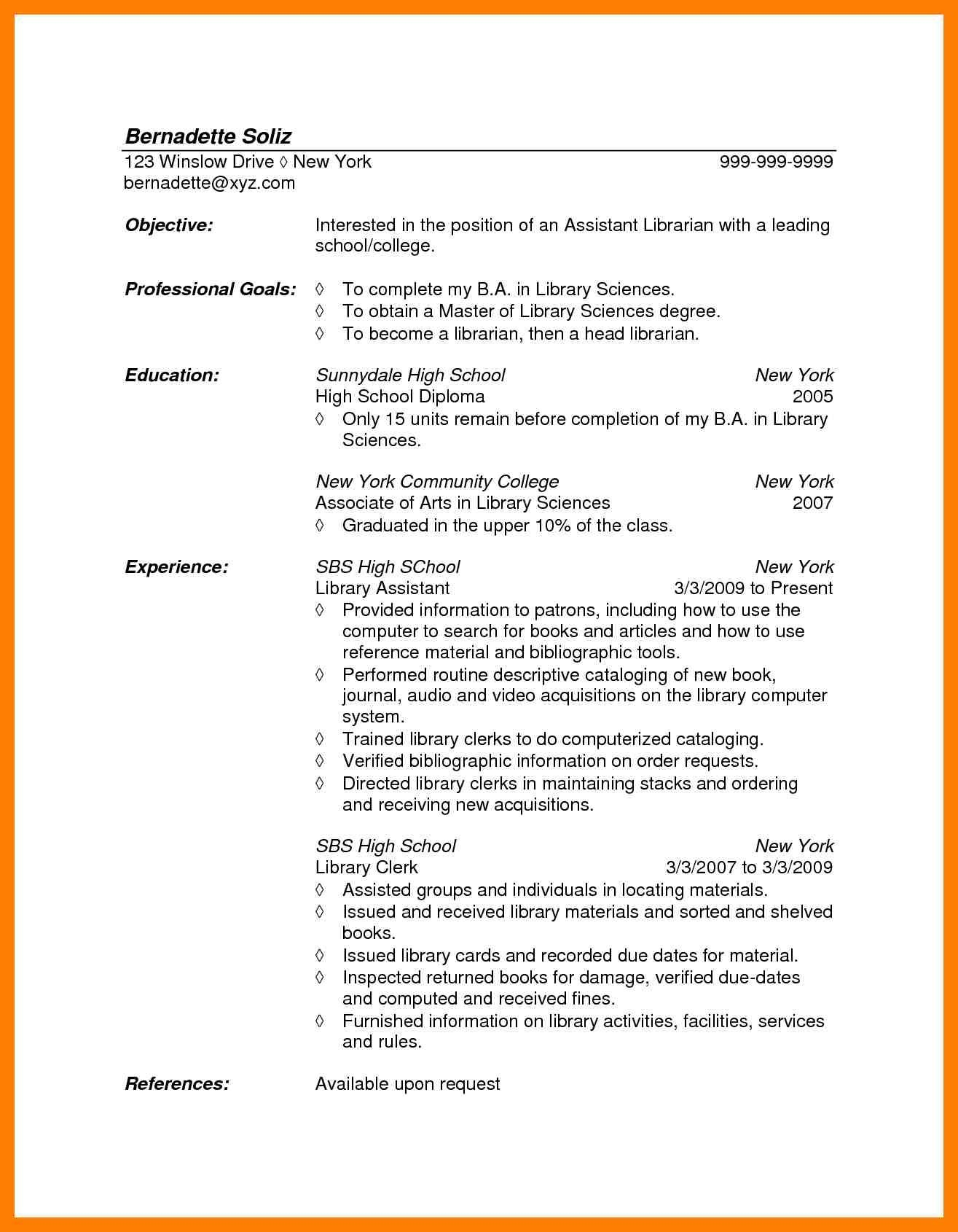 Librarian Resume Template - Library assistant Resume Elegant 27 Resume for Nursing assistant