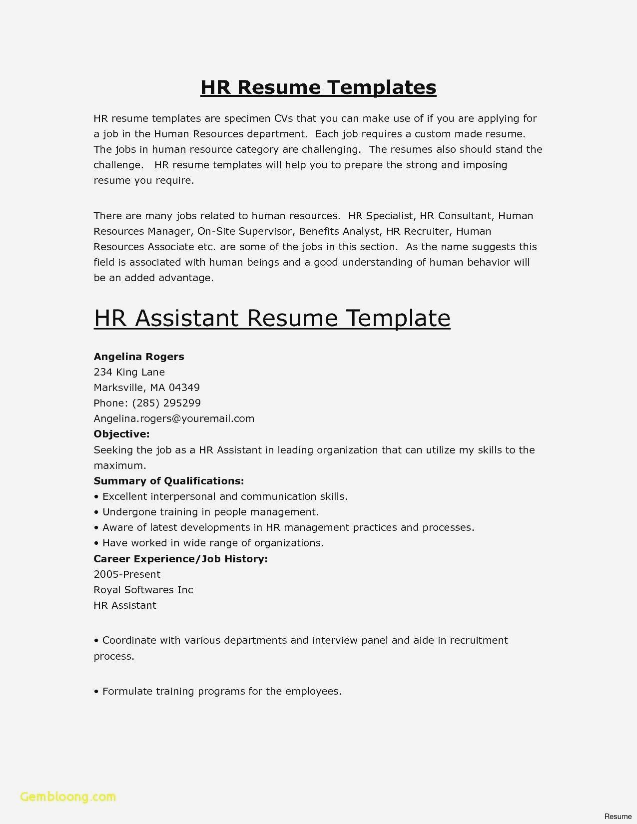 Libreoffice Resume Template - Resume Template Free Download Fresh Inspirational Examples Resumes