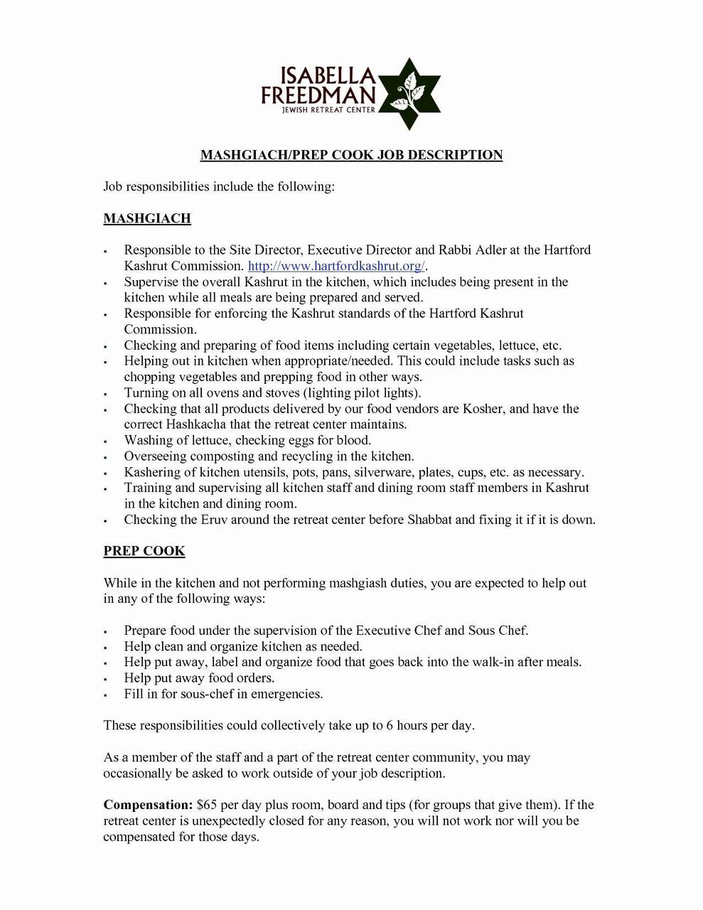 Line Cook Resume Template - Line Cook Resume Example Mesmerizing Resume Templates for Cooks Cook
