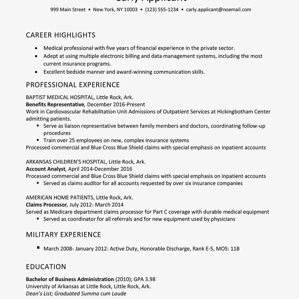Loan Processor Resume - Health Insurance Industry Resume Example
