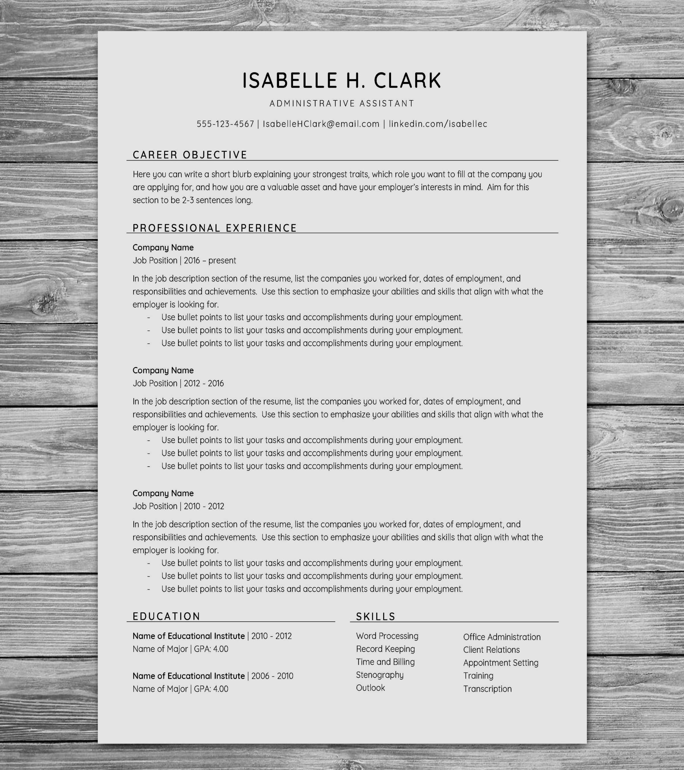 Lvn Resume Template - 20 Awesome Resume Template Seek Free Resume Templates
