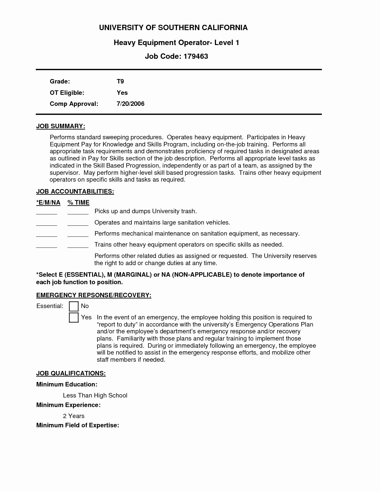 9 machine operator job description for resume samples