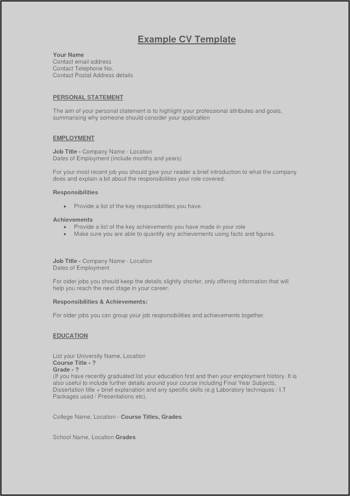 Making A Great Resume - How to Make A Resume Example Gallery Good Objective Statement for