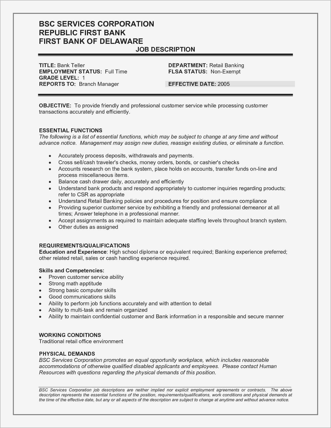 Manager Job Description for Resume - Basic Resume Examples for Retail Jobs Resume Resume Examples