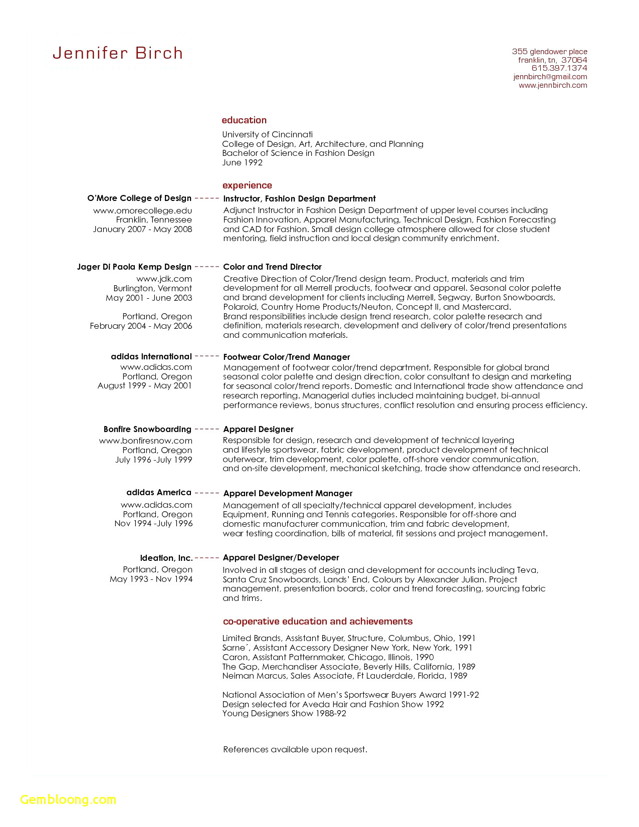 Manager Resume Template Word - 44 Unbelievable Sample Basic Resume