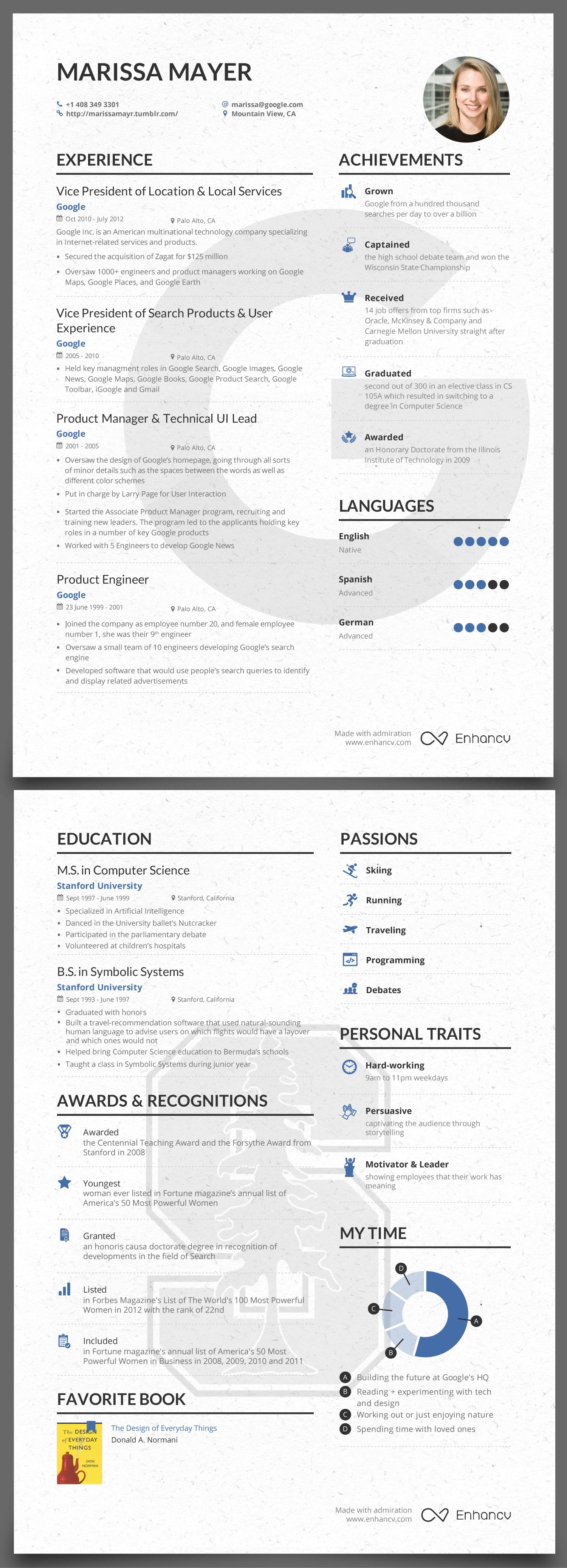 Marissa Mayer Resume Template Download - Michele Pilato Miga73 On Pinterest