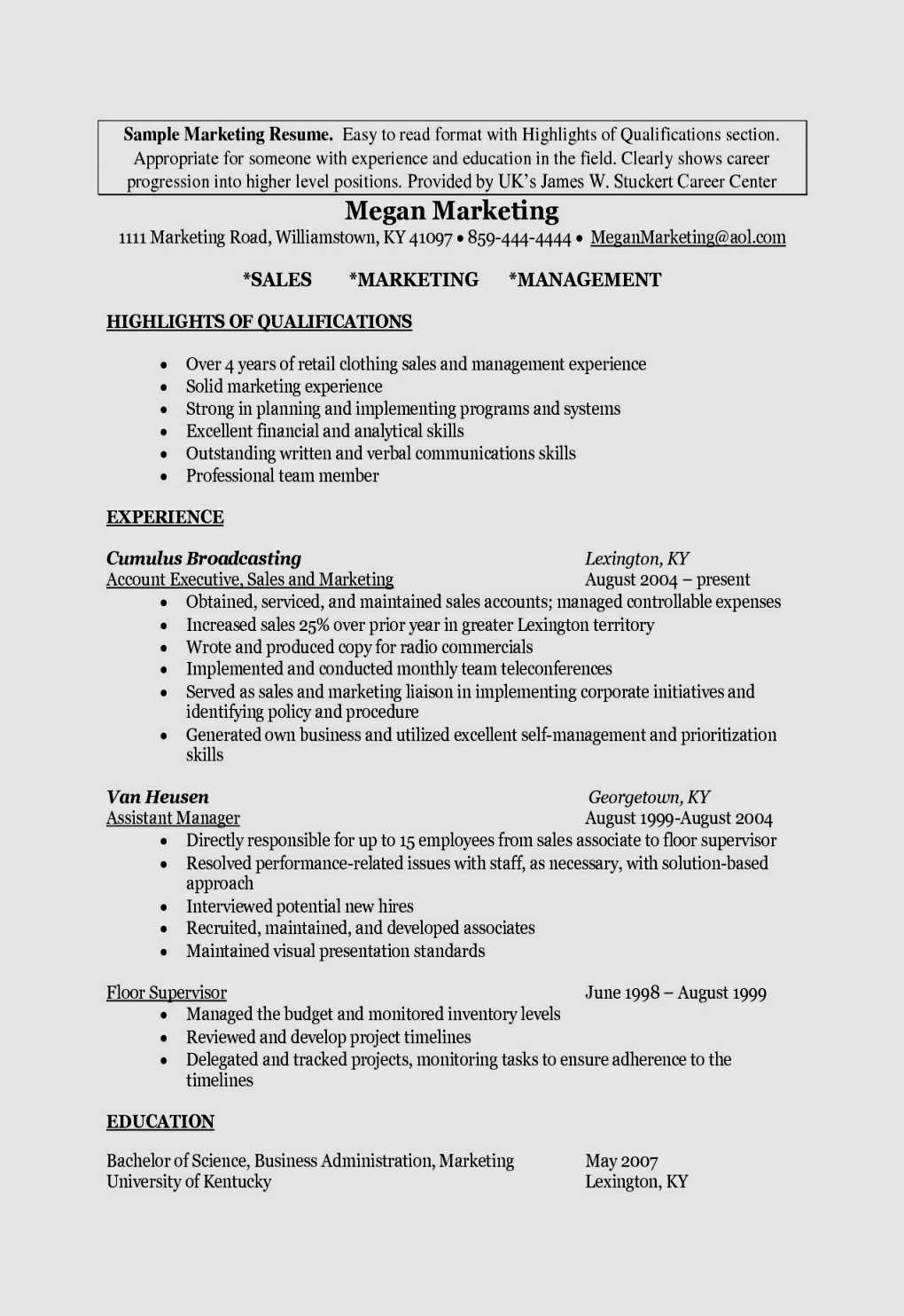 Marketing Manager Resume Template - 20 Fresh Cover Letter Marketing assistant Free Resume Templates