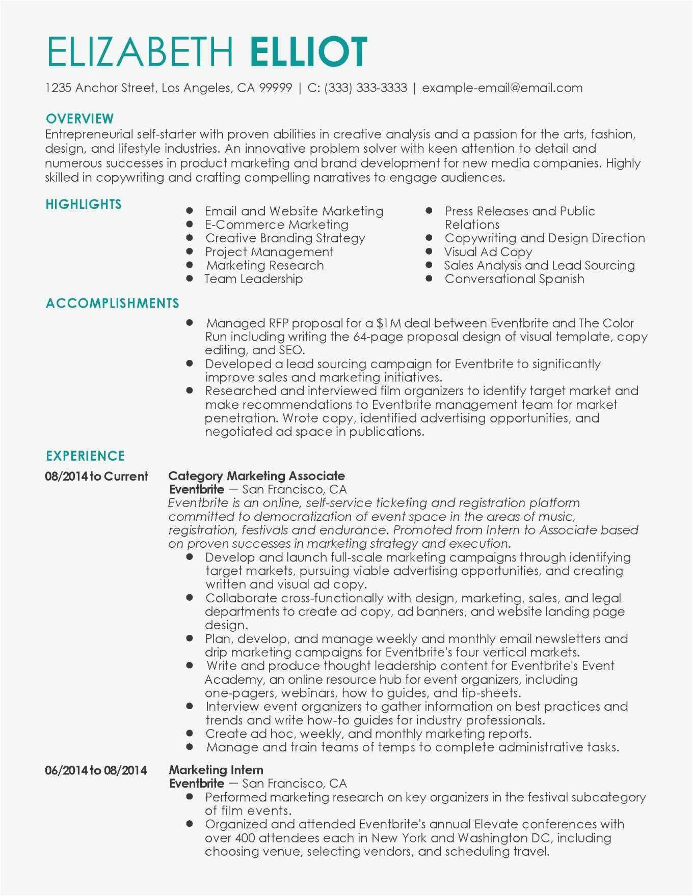 Marketing Manager Resume Template - 29 New Marketing Email Template Sample