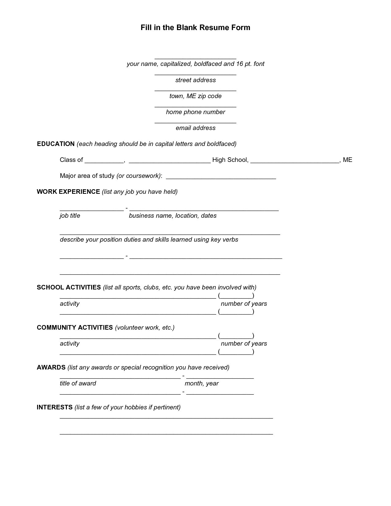 Marriott School Resume Template - 25 Fresh High School Student Resume Templates