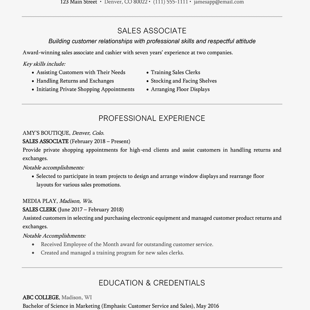 Marriott School Resume Template - Resume Headline Examples and Writing Tips