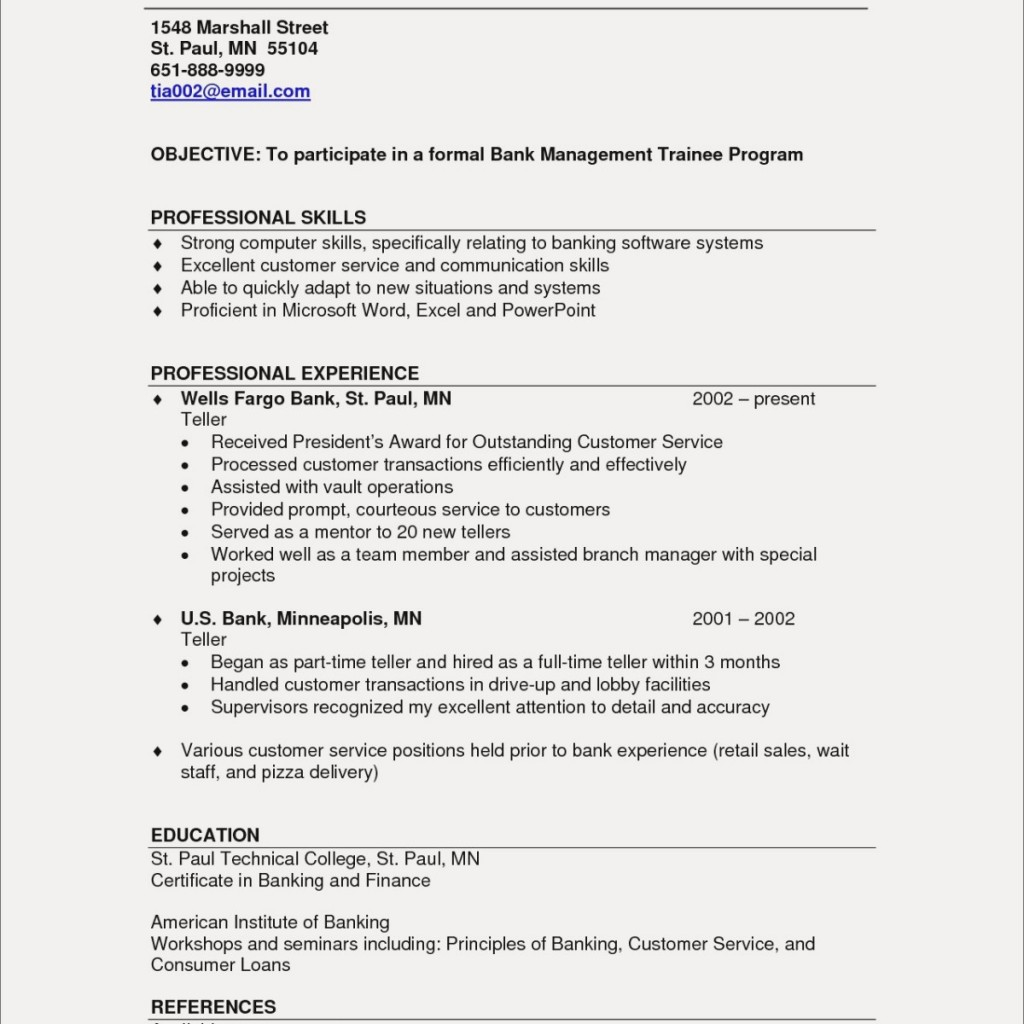 13 marshall resume template examples