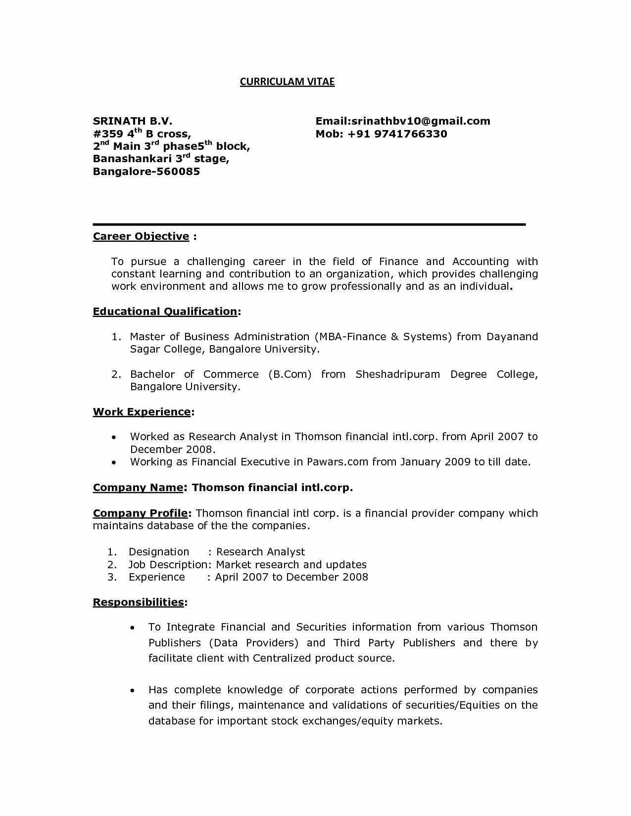 Mba Resume Template - Resume for Research Analyst Fresher Beautiful Law Student Resume