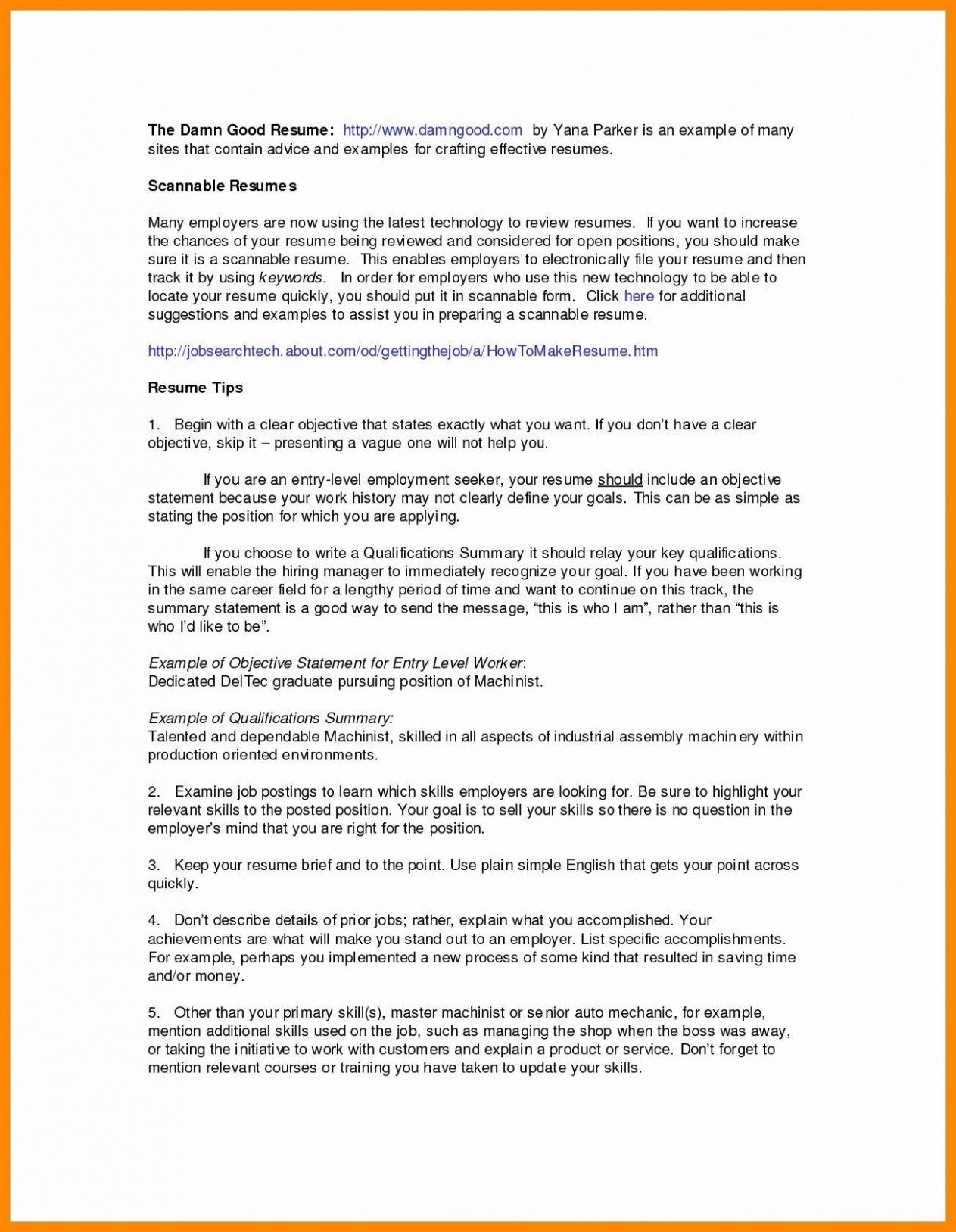 Mechanic Resume Example - 22 Mechanic Resume Example