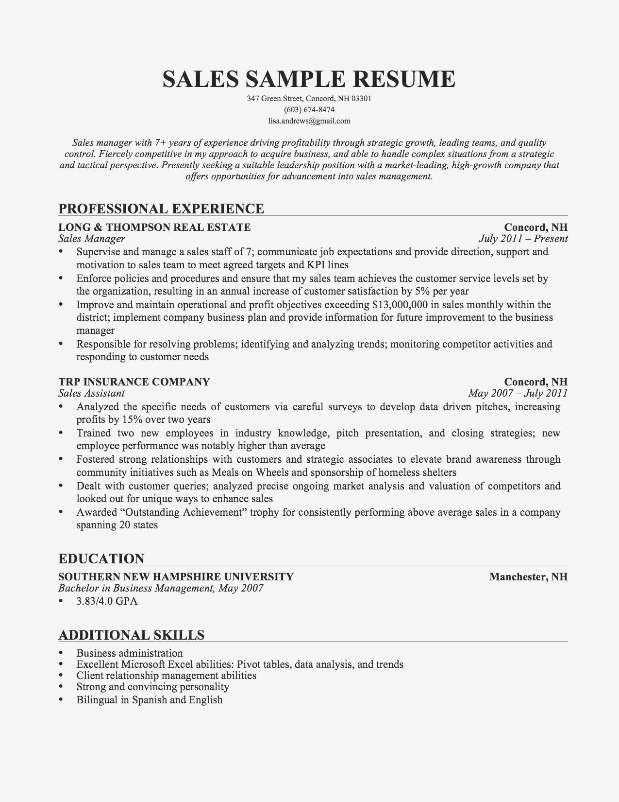 Mechanic Resume Sample - Graduate Resume Sample
