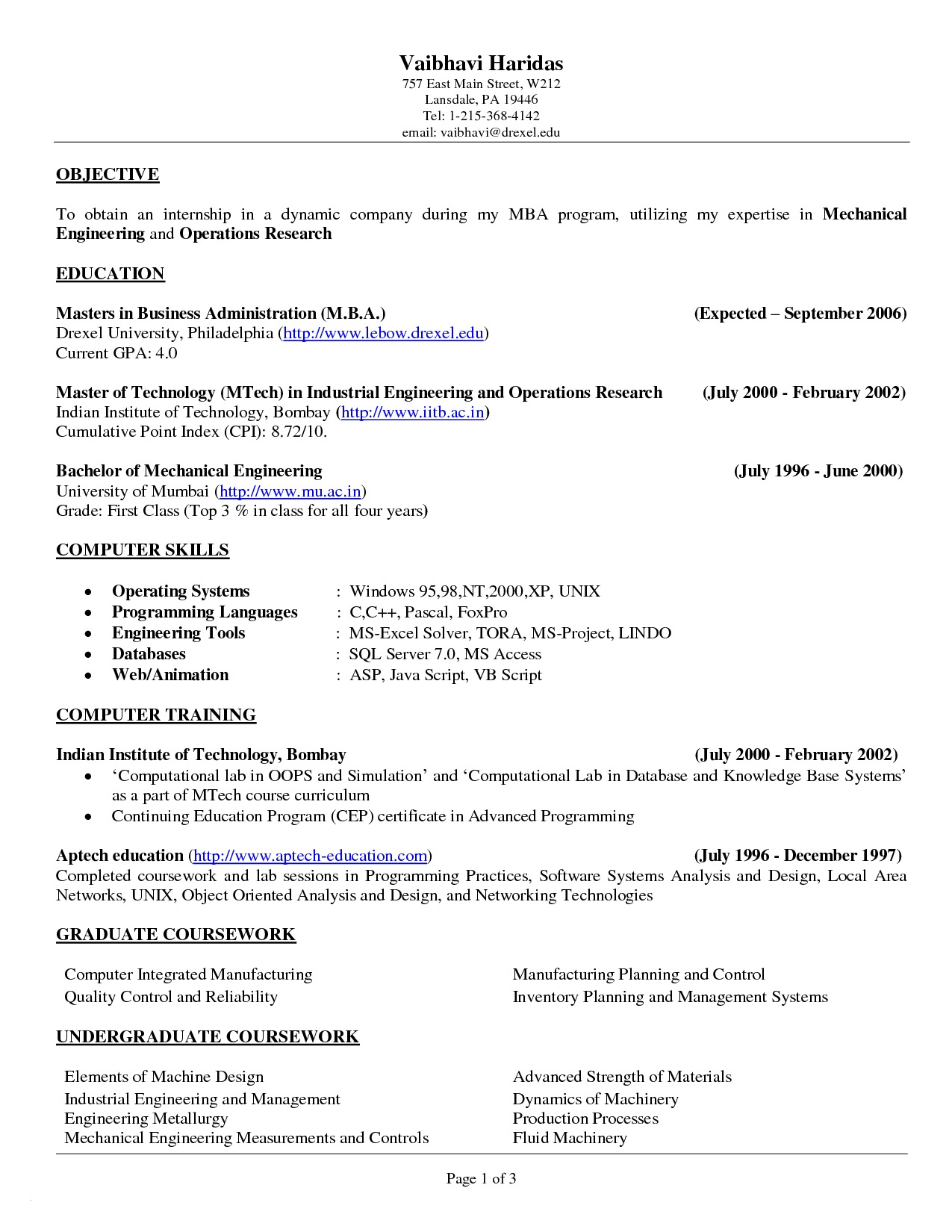 Mechanical Engineering Student Resume - Mechanical Engineering Student Resume Examples Inspirational Awesome