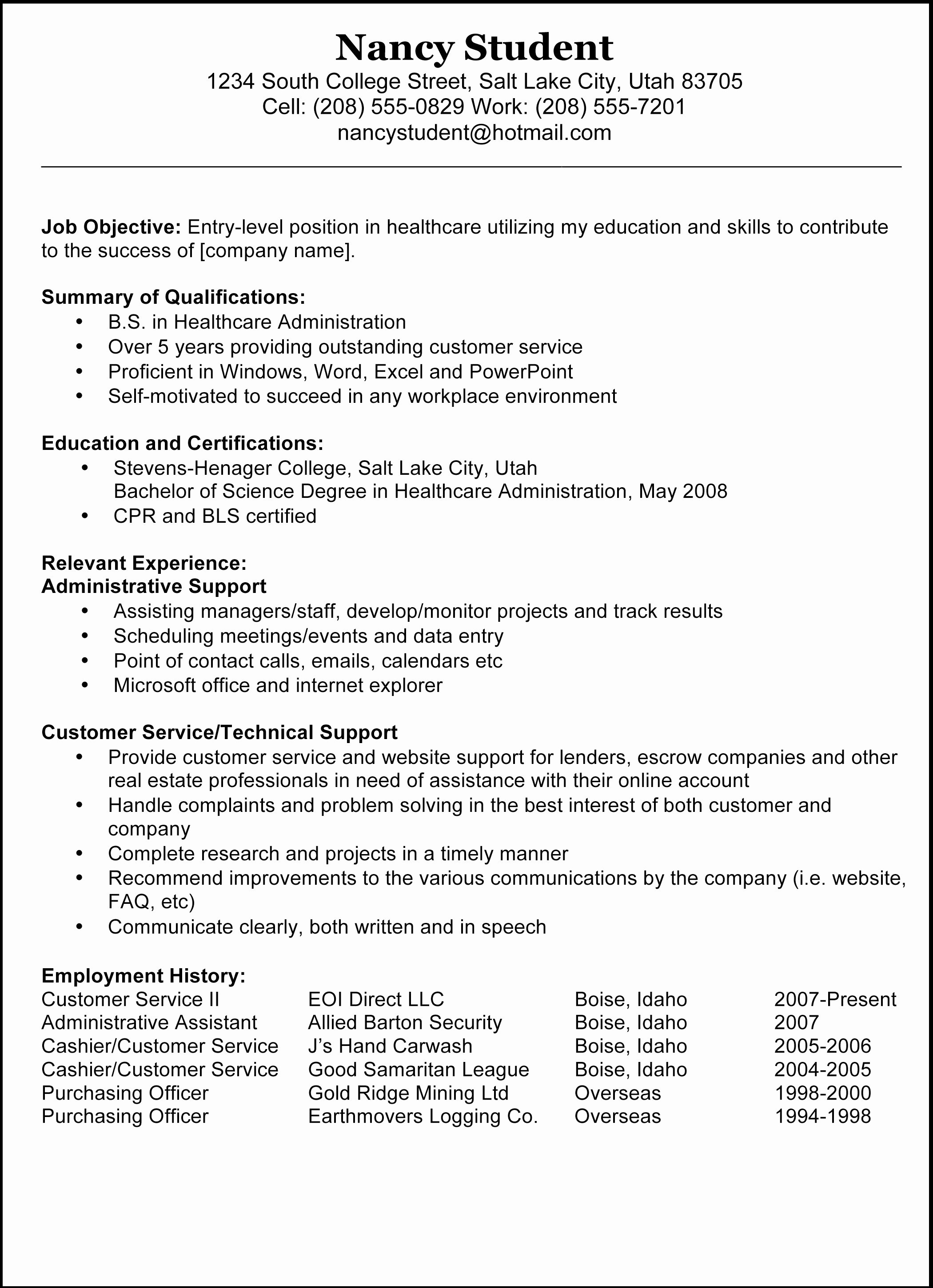 Med School Resume Sample - Healthcare Knowledge Ltd