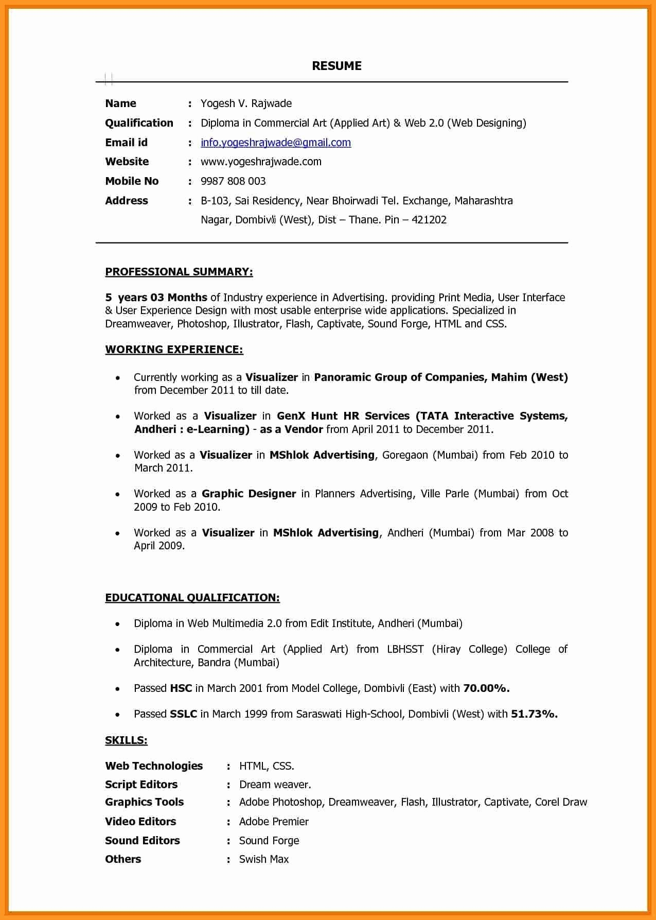 Media Resume Template - Artist Resume Template Fresh Nice Resume Templates Best Resume Fill