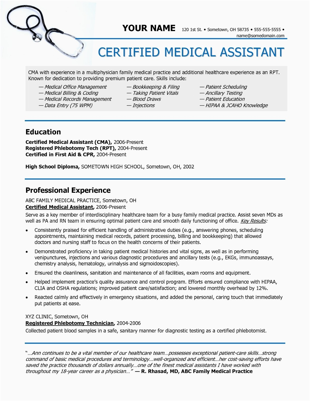Medical assistant Resume Objective - Objective for Resume Healthcare Example Unique Good Resume Objective