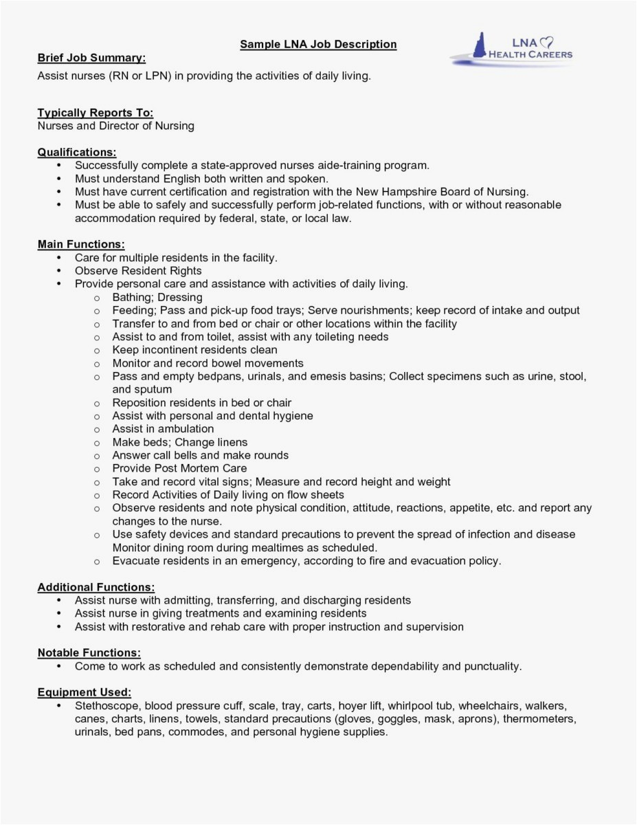 Medical assistant Summary for Resume - Medical assistant Job Description Resume New Medical assistant