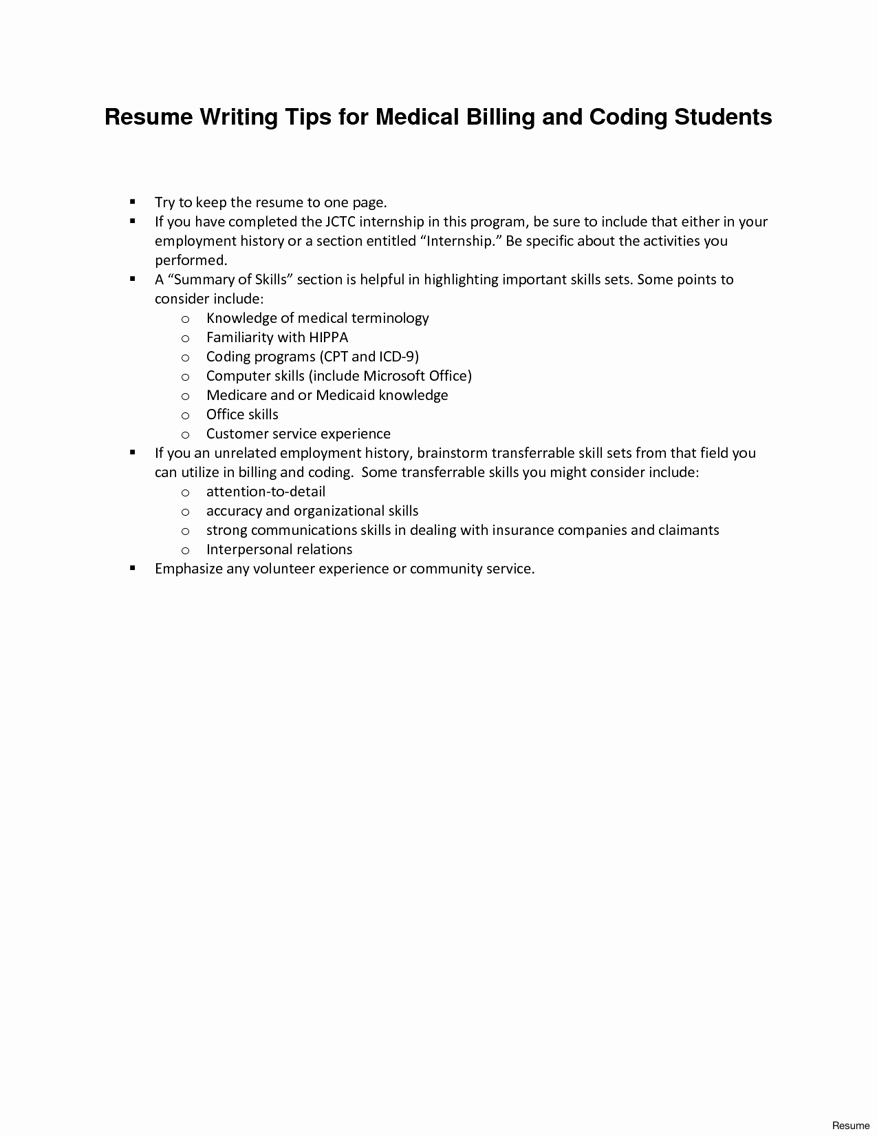 Medical Billing and Coding Resume - Medical Coding Resume Example New Medical Billing Resume 5