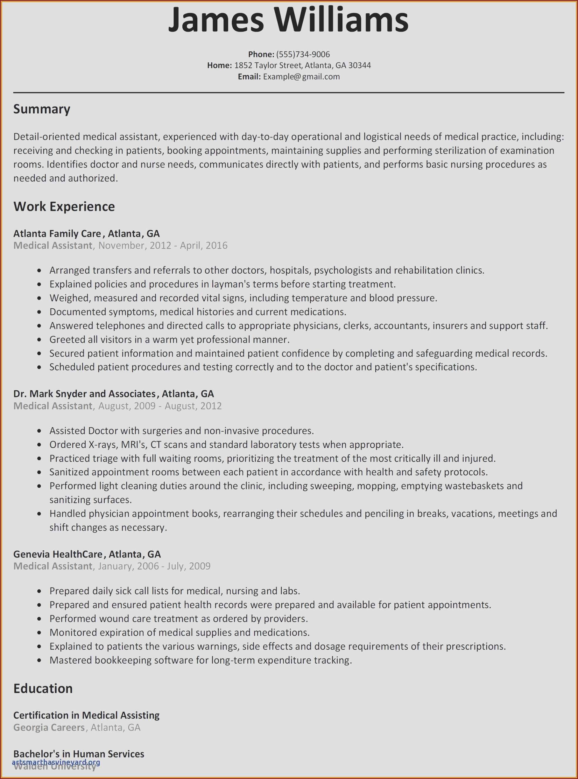 Medical Field Resume Templates - Federal Government Resume Template Beautiful ¢–· Fresh Best Federal