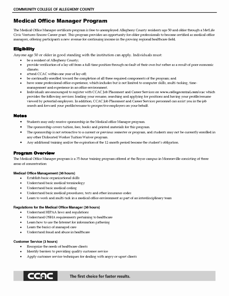 Medical Office Manager Resume Example - 30 Front Desk Manager Resume