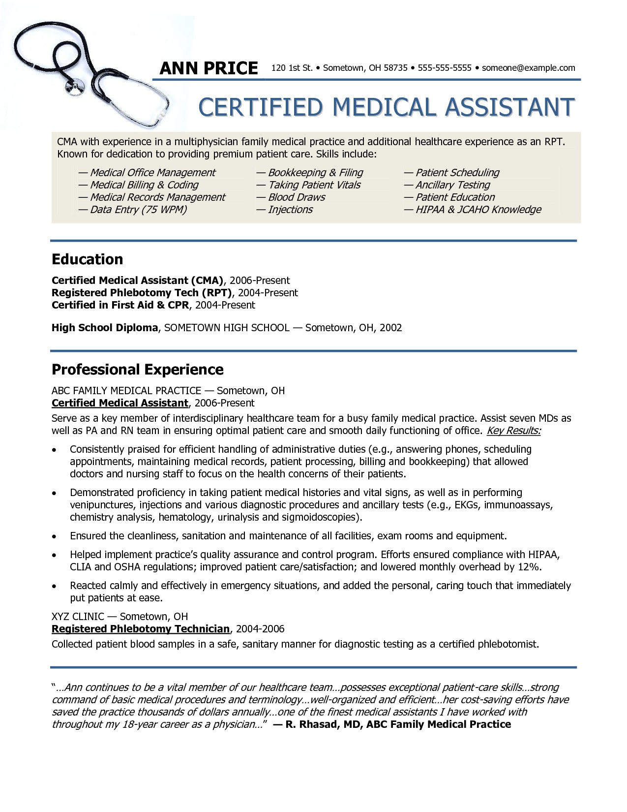 Medical Office Resume - Accounting assistant Resume Fresh Beautiful Examples Resumes