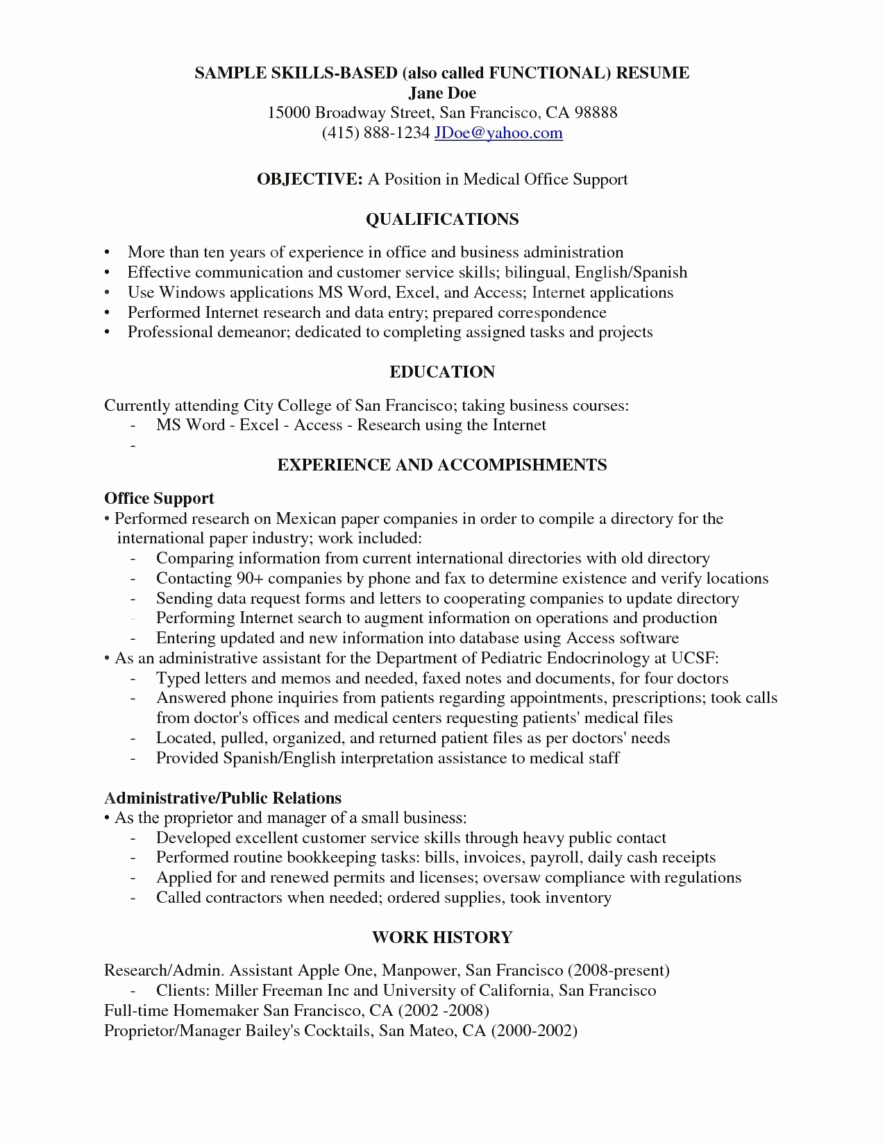 Medical Office Resume - 50 Unique Medical Fice Inventory Template Documents Ideas