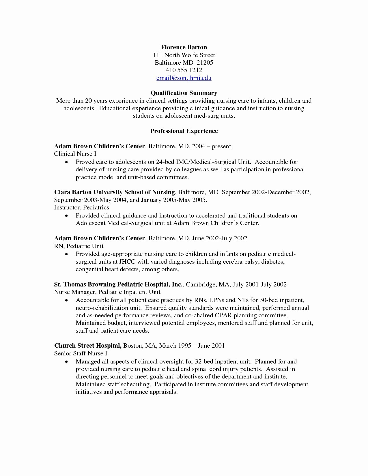 Medical Surgical Nurse Resume - Labor and Delivery Nurse Resume Unique Inspirational Example T Test