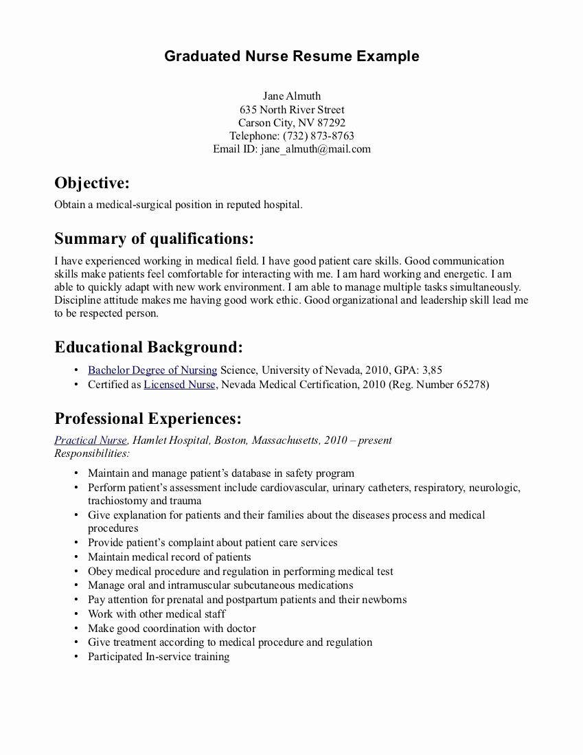 Medical Surgical Nurse Resume - ¢Ë†Å¡ 30 Fresh Surgical Rn Resume Examples
