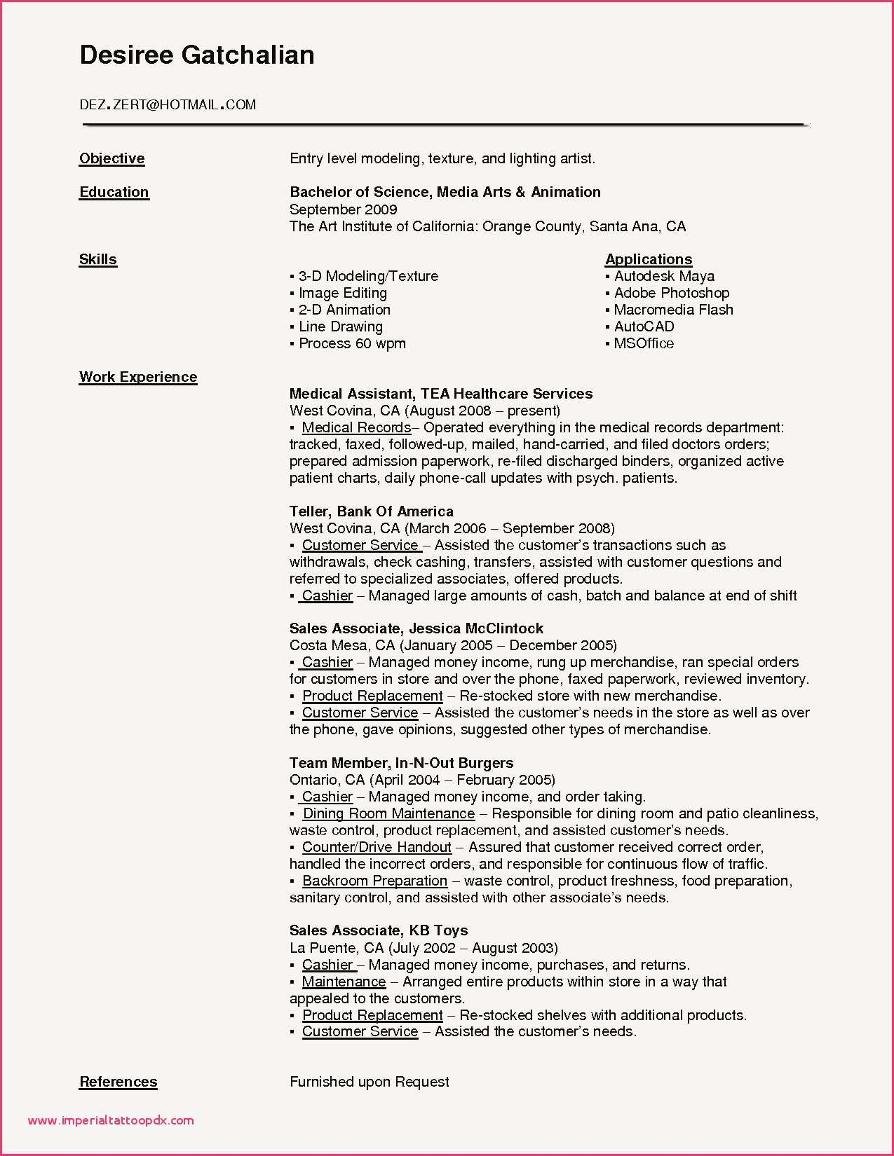 Microbiology Lab assistant Resume - Microbiology Lab assistant Resume Medical assistant Resumes New