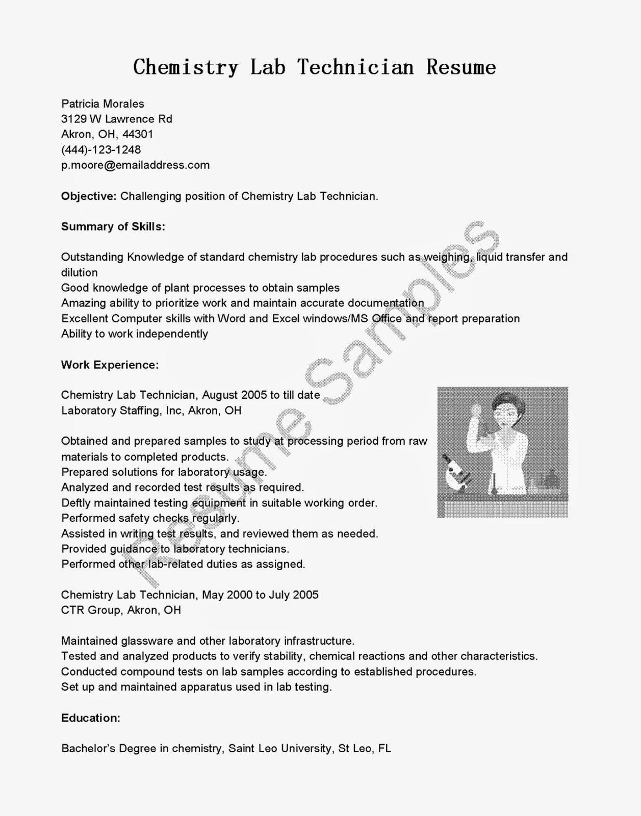 Microbiology Lab assistant Resume - Vet Tech Resume Inspirational Laboratory Technician Resume Awesome