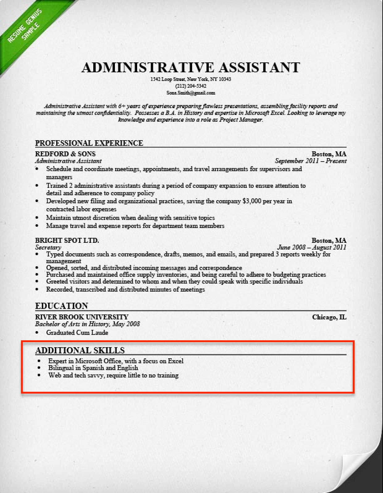 Microsoft Office Resume - Resume Skills Section 250 Skills for Your Resume