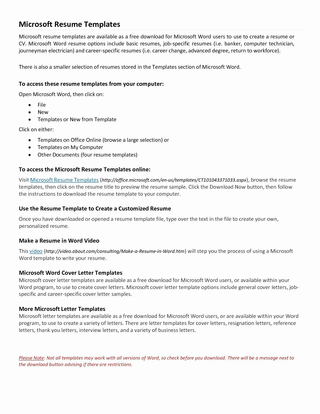 Microsoft Resume Wizard Free Download - Microsoft Letter Templates Free Save Microsoft Word Resignation