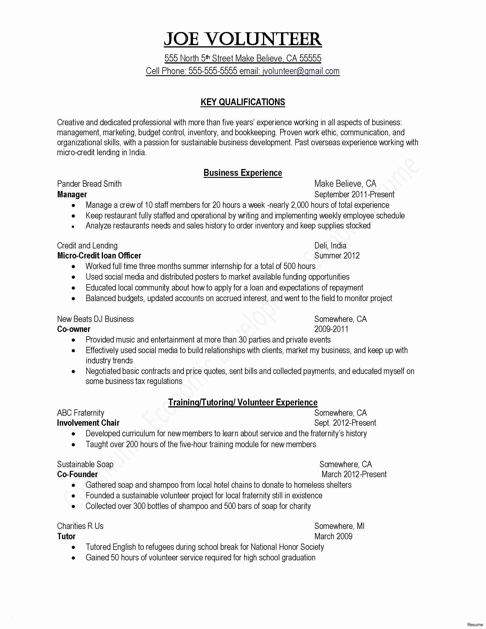 Military Experience On Resume - Military Resume Templates Inspirationa Military Experience Resume