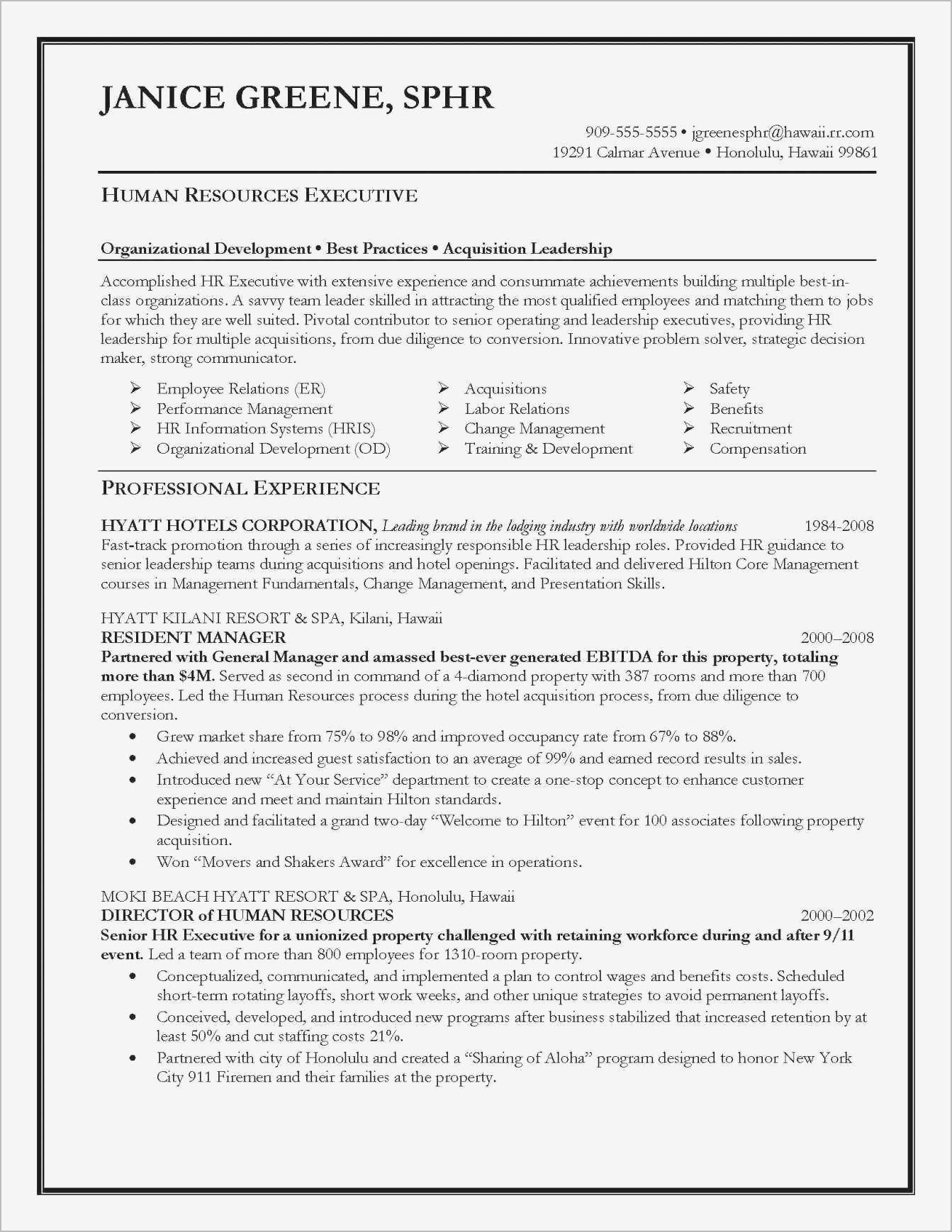 Military Experience On Resume - Hris Specialist Inspirationa Military Experience Resume New Fresh