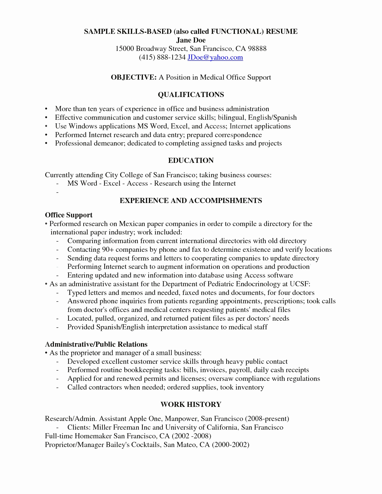Mini Resume Template - Point Administrator Resume Awesome Examples Resumes Ecologist
