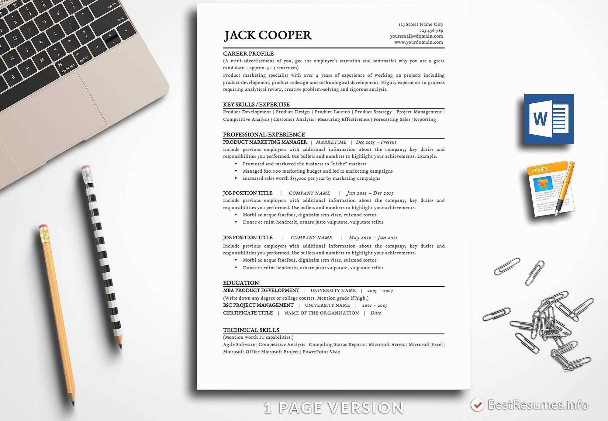 Mini Resume Template - Marketing Campaign Report Template Elegant Resume Template Pages