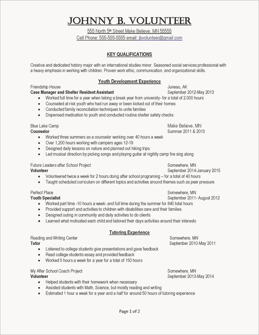 Ministry Resume Template - Perfect Resume Example Luxury Resumes Skills Examples Resume