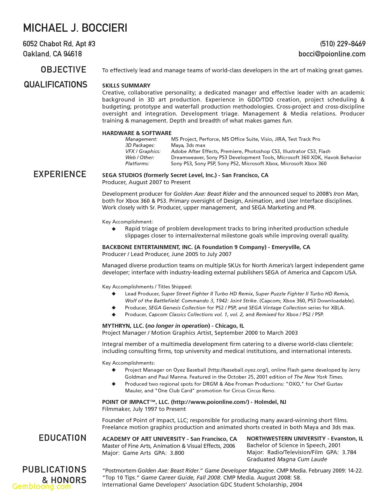 motion graphics resume template example-1 Page Resume Template Best Resume Template Samples Best formatted Resume 0d 6-d