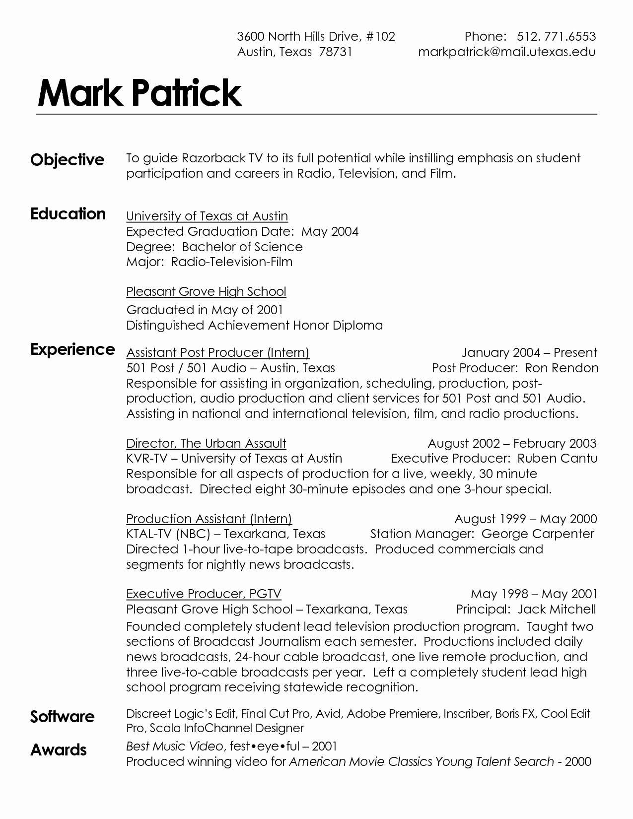 Music Business Resume - Music Industry Resume Luxury Music Business Resume Template Unique