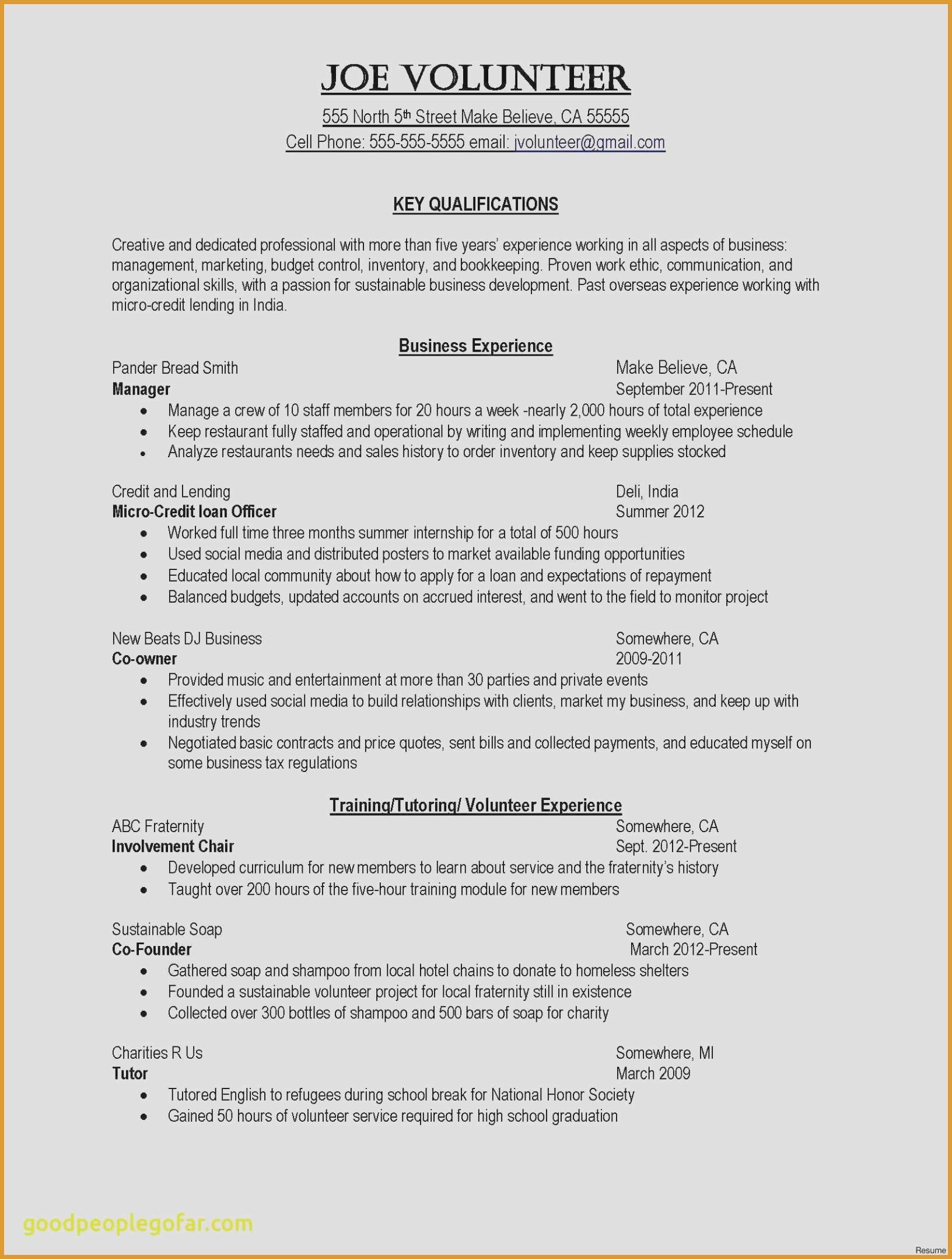 Music Industry Resume - New Entertainment Resume Template