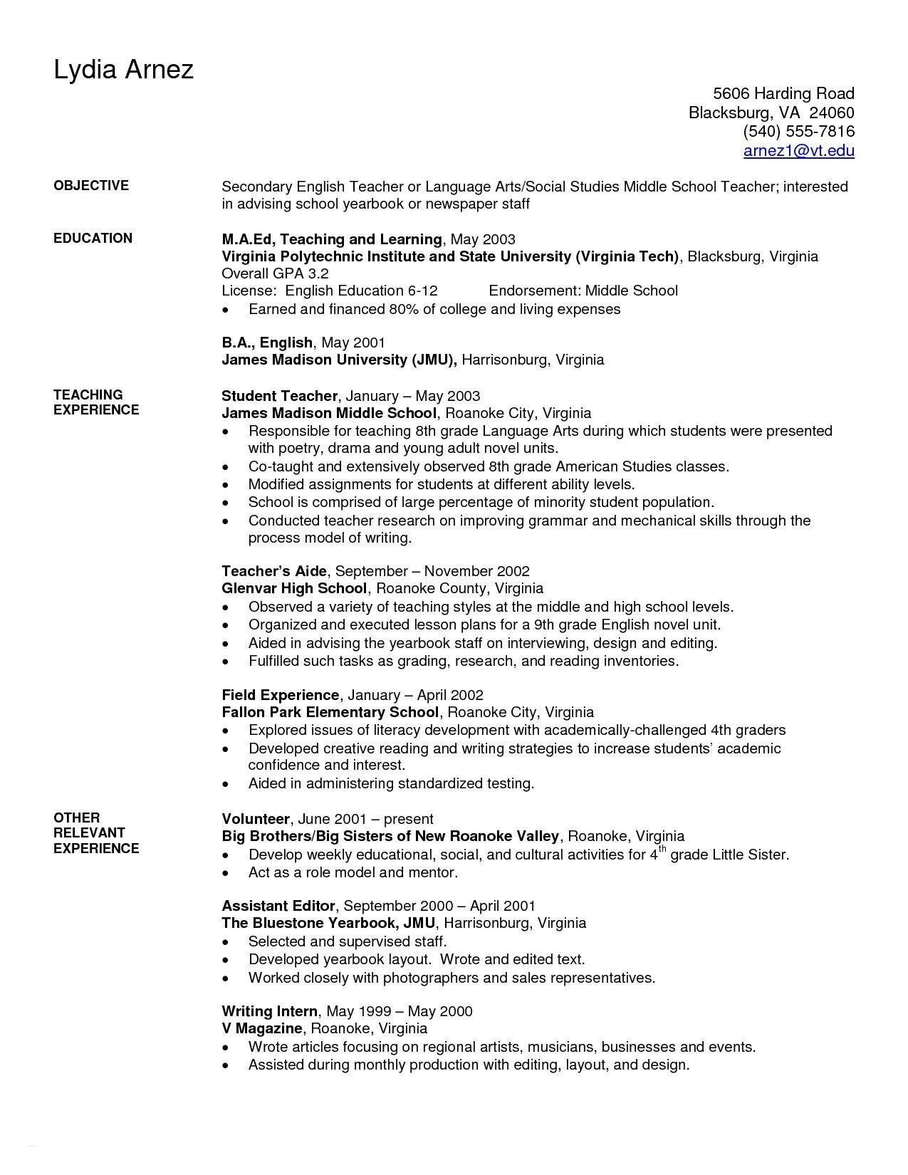 Music Teacher Resume Template - Teacher Resume Objective Beautiful Resume 49 Unique Resume Music Hd